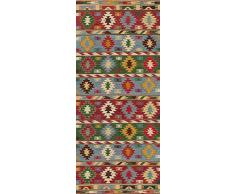 Vilber Kilim.2578 DU 01 78X180 Alfombra, Vinilo, Multicolor, 78 X 180