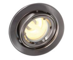 Naeve Leuchten 428550 - Ojo de buey empotrable (bombilla de bajo consumo GU10, 9 W, 9,5 x 7,5 x 11 cm, redireccionable, metal)