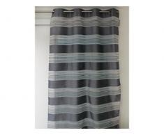 Soleil d Ocre Kenny cortina Jacquard con ojales 140 x 250 cm poliéster, poliéster, gris, 140 x 250 cm