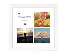Inov8 16 x 40,64 cm Insta-Frame Kayla Marco para Instagram 4/Cuadrado Fotos con paspartú Blanco y Blanco con Borde, Blanco
