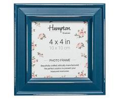 Hampton Frames Paloma - Marco de Fotos Cuadrado (Madera, 14,5 x 14,5 x 2,5 cm), Color Verde