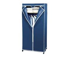 WENKO 4381640100 Armario Air con repisa, Polipropileno, 75 x 160 x 50 cm, Azul