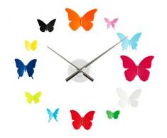 Karlsson KA5357MC - Reloj de pared con mariposas de colores (plástico, 12 mariposas)