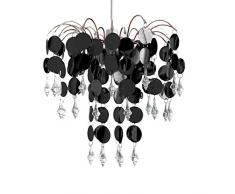 Just Contempo – Lámpara de techo de araña lámpara de techo colgante, color negro