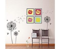 Walplus Huge Black Dandelion adhesivo decorativo para pared