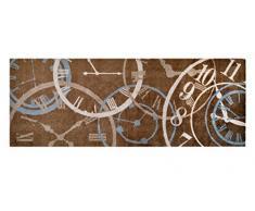Alfombrilla LifeStyle 100994 Relojes, alfombra antideslizante y lavable, ideal para el armario, la cocina o el dormitorio, 67 x 170 cm, marrón / beis