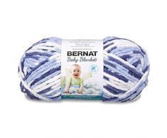 Bernat Tamaño pequeño 201 m 300 G Ovillo de Lana Ovillo de poliéster Manta para bebé, Azul Twist