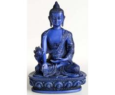 Buda Figuras/Billy Held Medicina Buda Estatua de Buda, Resin, Azul, 20Â cm