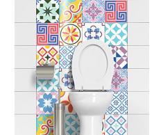 Ambiance-Live - Lote de 24 Adhesivos para Pared, diseño de Azulejos Que imita Cemento, 20x20cm
