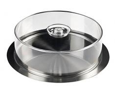 Inoxibar 07000 - Bandeja de catering circular con tapa transparente, 35 cm