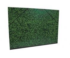Clairefontaine Annonay Art carpeta con elástico, verde, A4, 26 x 38 cm