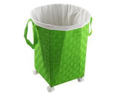 Versa 19485336 - Cesto para la ropa con 4 ruedas, color verde