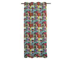 Apeltstoffe Cortina con ojetes, Multicolor, ca. 135x245 cm