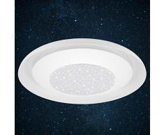 Briloner Leuchten Lámpara de techo LED, con decoración de estrella, efecto de luz directa/indirecta, 900 lúmenes, 4000 Kelvin, 36,5 cm de diámetro, 12 W, blanco