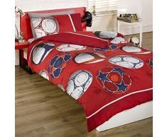 Desconocido Red de fútbol Junior infantil con forma de funda de edredón juego de cama Inc. Funda de almohada