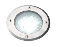 Eco Light suelo Foco empotrable Berlin, incluye bombilla, casquillo GX53, redondo, diámetro 12cm, IP667010A ESL