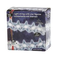 Cadena de luces LED con estrellas, que funciona con pilas (aprox. 4,20m)