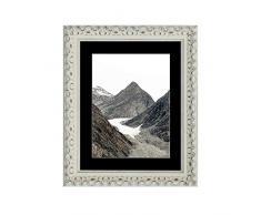Tailored Frames Marcos a Medida – Vienna Range, Vintage Adornado Shabby Chic Marcos de Fotos y Cuadros en Blanco con Marco Negro 70 x 50 cm para A2