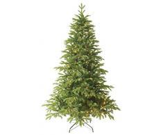 Forever Green Premium 958805 Anson árbol de Navidad artificial, PVC plus PE, D H 180 x 122 cm con 240 LED luces, puntas 1,404, soporte metálico, verde