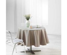 Mantel Redondo Suave de Interior, 180 cm, Revestimiento liany Gris