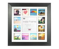 Inov8 16 x 40,64 cm Insta-Frame Marco para Instagram 13/de estampado a cuadros de fotos con paspartú blanco y negro con borde, negro