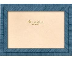 Natalini BIANTE Azzurro 10X15 Marco de Fotos con Soporte para Mesa, Madera, Azul Claro, 10 X 15 X 1,5