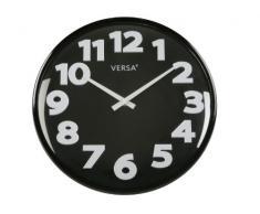 Versa Reloj Pared Negro 33cm Día
