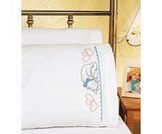 Janlynn 21 - 0939 metal Cruz Par de fundas de almohada Kitty