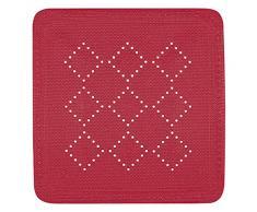 Spirella 55 x 55, Rojo colección Alaska, Alfombrilla de Ducha, PVC
