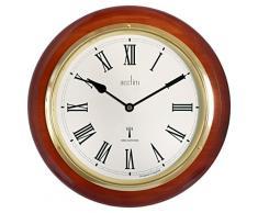 Acctim 74436 Durham - Reloj de pared con caja de madera de caoba