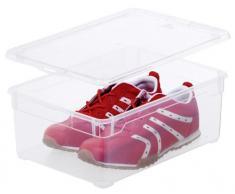 Rotho 2043990 - Caja de ordenación para zapatos de hombre, 10 l, transparente