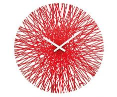 Koziol Silk - Reloj de pared, color rojo