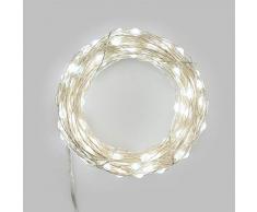 Luces de Navidad cadena luminosa 200 micro LED 3 mm blanco 20 metros - Luces navideñas - Luces para exteriores - Decoración navideña