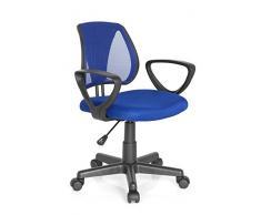 Hjh Office Kiddy Cd Silla de oficina infantil Azul (Blue) 40x53x92 cm