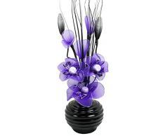 Flourish Decoración Jarrones Flores Artificiales Decorativas Púrpura, 32cm