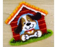 Vervaco de perro Kit para alfombra con forma de casa, Multi-color