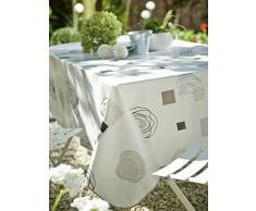 CALITEX vrilíssia Mantel de Hule Rectangular PVC 200 x 140 cm, Color Blanco