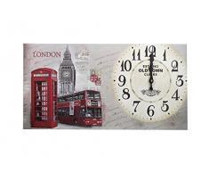 Reloj de pared 60 cm madera cocina modern París Londres Landhaus Nostalgia