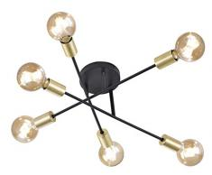 Trio Leuchten Lámpara de Techo E27, 1 W, Schwarz Matt, 56.6 x 56.6 x 19.100000000000001 cm