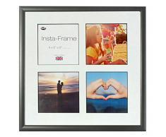 Inov8 16 x 40,64 cm Insta-Frame Marco para Instagram 4/de estampado a cuadros de fotos con paspartú blanco y negro con borde, madera de fresno