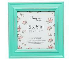 Hampton Frames - Marco de Fotos Cuadrado (13 x 13 cm), Color Verde
