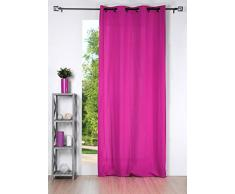 Lovely Casa R64689014 Nelson - Cortina con ojales (poliéster, 135 x 240 cm), color fucsia