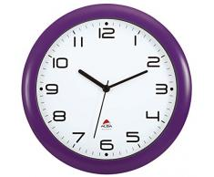 Amanecer, Reloj de pared, silenciosas, 30 x 30 x 5,5 cm, púrpura (Violett)