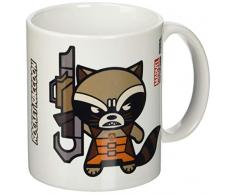 Marvel Taza de cerámica oficial de Pyramid International « Kawaii (Rocket Raccoon)» para café/té, multicolor, 315 ml