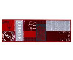 HMT 555K013- Alfombra de Cocina de auténtica Poliamida, 50x 150cm, Multicolor
