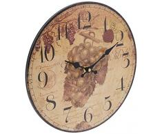 Better & Best 2671010 - Reloj de pared con dibujo de uvas