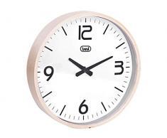Trevi OM 3311 L Reloj de pared, Madera/Plástico, Blanco, 25