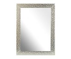Inov8 – MFE de mosl de A4 Traditional Cristal de espejo de marco, 29,7 x 21 cm, Paquete con 4, Mosaic Plata