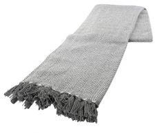 Como throw127X 152CM Grande sofá, Silla y Cama Decorativa Throwover, Color Gris y Blanco Elegante, Negro