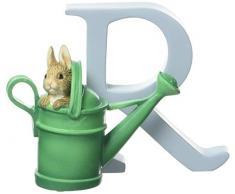 Beatrix Potter - Letra R para puerta, diseño de conejito Perico con regadera